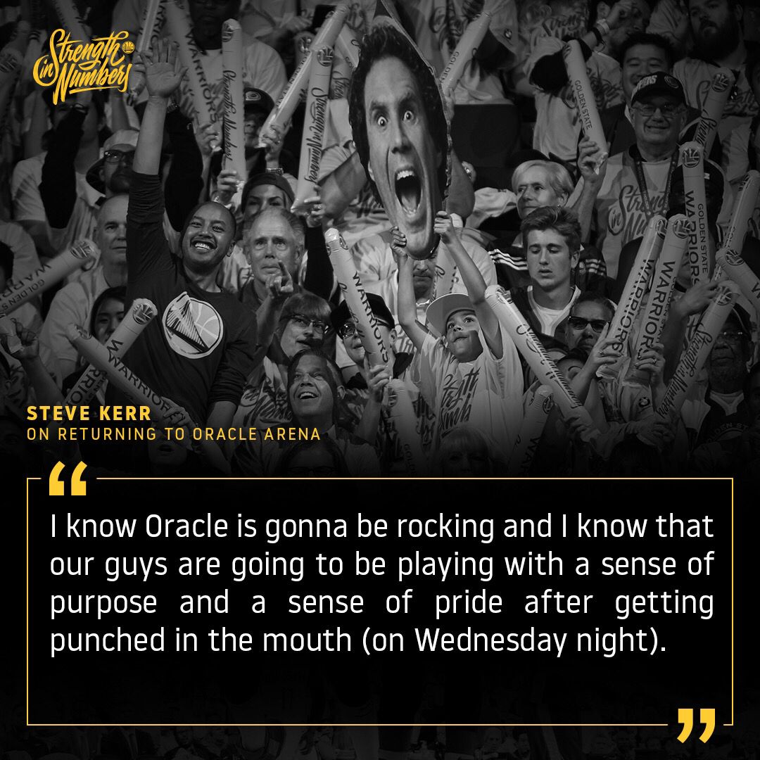 Coach Kerr is excited to be back on #WarriorsGround 💪🏽  H/T @957thegame