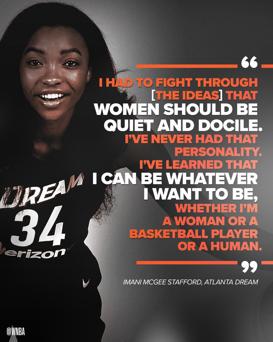 Whatever you want, @imanitrishawn_ 💯 #WNBATakesAStand   Catch Imani & the rest of our ⭐️⭐️⭐️ Sunday on #WNBAAllDay   @AtlantaDream-@DallasWings (Game 3 of 6): 3 pm/et on Twitter