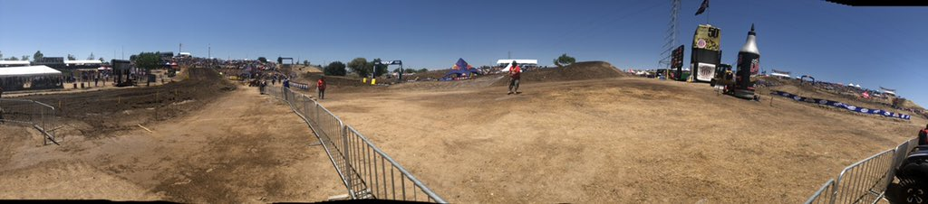 Check out the view from the mechanic area at #Hangtown || 450 moto one coming up! 👊🏻 #RmArmy
