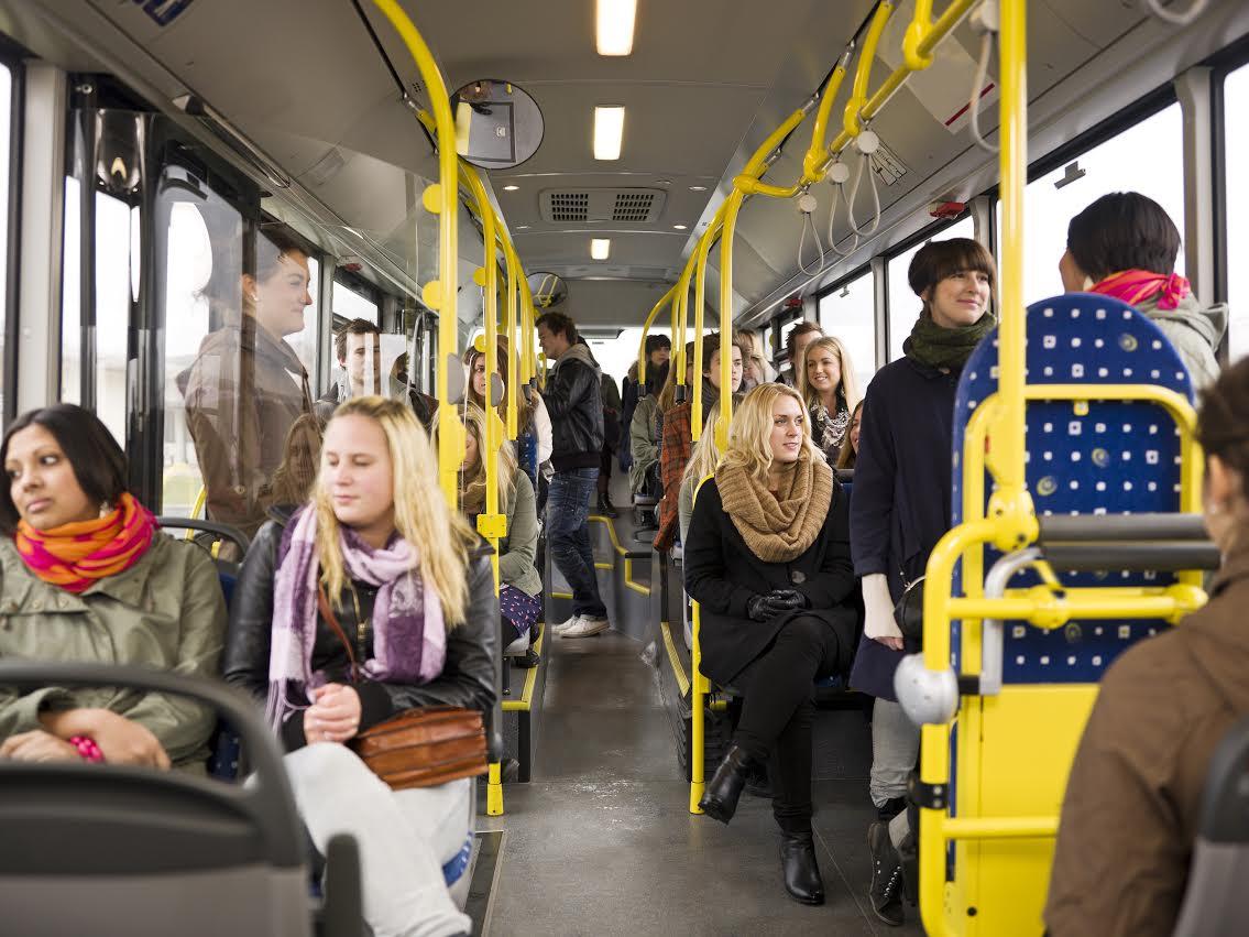 Днем бабушек, картинка с метлой в автобусе