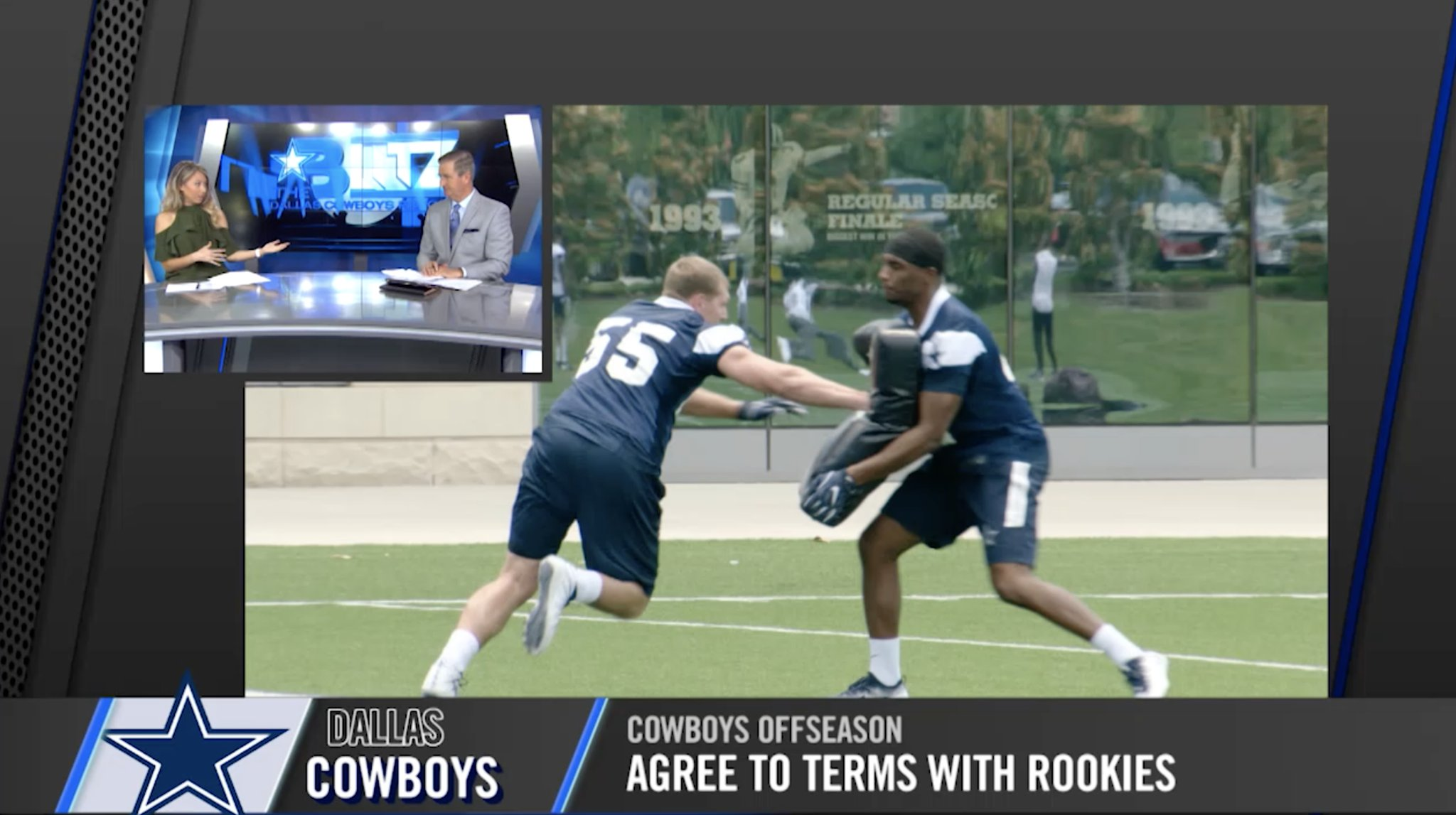 How will the new rookies impact the #DallasCowboys roster?  Watch The Blitz �� https://t.co/gyHwaW3lfK https://t.co/ZUxreQsqxA