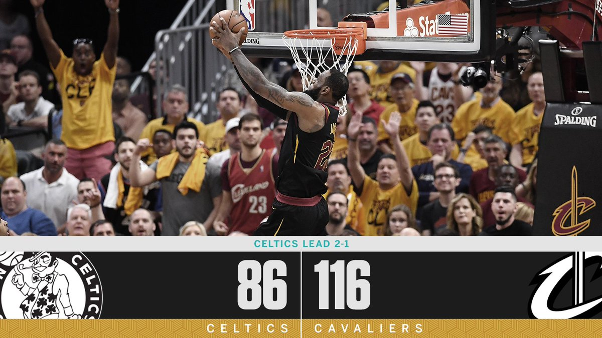 Cleveland responds, in dominant fashion.