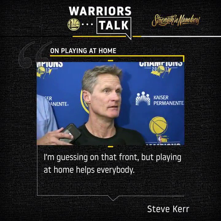 The Dubs are ready to be back on #WarriorsGround! Hear more from Coach Kerr following today's practice 🗣