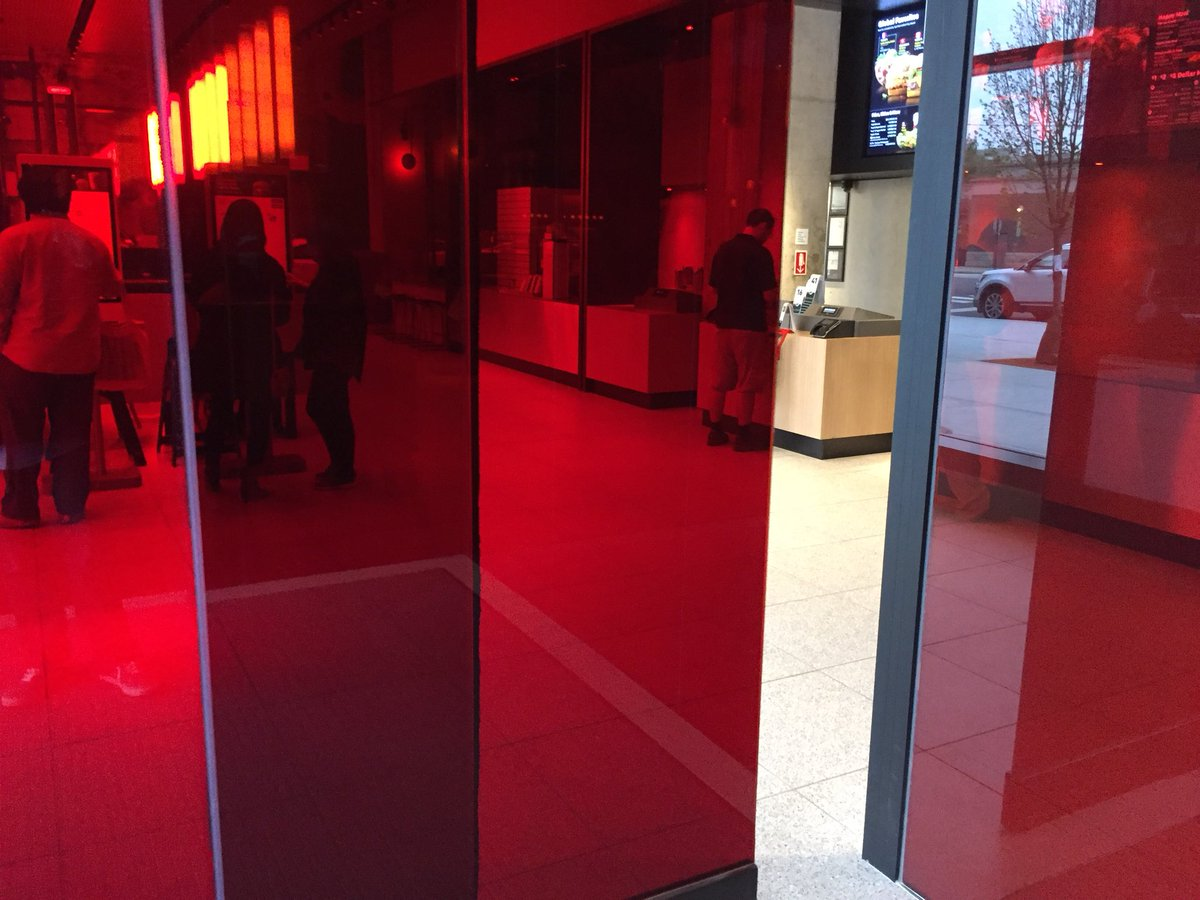 Jonathan Maze On Twitter Red Sliding Glass Doors Are Like Out Of A