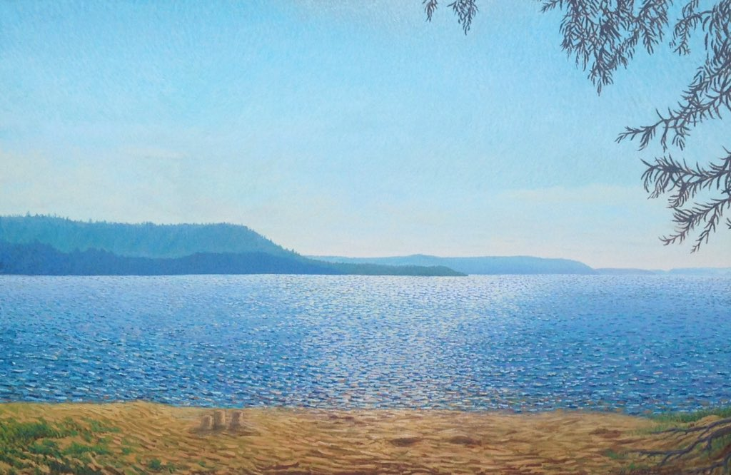 Happy #VictoriaDay #longweekend - Blue Mountain and the Bruce Peninsula 2017-18 Oil on canvas  34 x 52 inches  Available @TheAGH Art Rental - #art #artlover #oilpainting #Painting @Anishinabe_Life @CanadaReTweet @BlueMtnVillage @collingwoodON #cottagecountry<br>http://pic.twitter.com/4miHsUaYF6