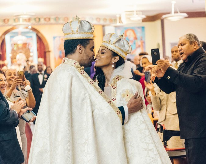 Congratulations to Prince Yoel of Ethiopia—the great-grandson of Haile Selassie, the last emperor of Ethiopia—who has a law degree from Howard University and his new wife Ariana. 💍👑