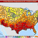 Image for the Tweet beginning: The U.S. hot spot today