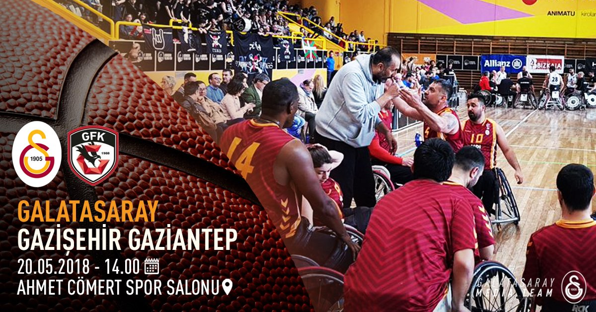 GAMEDAY! 🏆 TSBSL 22. Hafta 🆚 Gazişehir Gaziantep ⏰ 14:00 📍 Ahmet Cömert Spor Salonu 🔗 galatasaray.org/haber/basketbo…