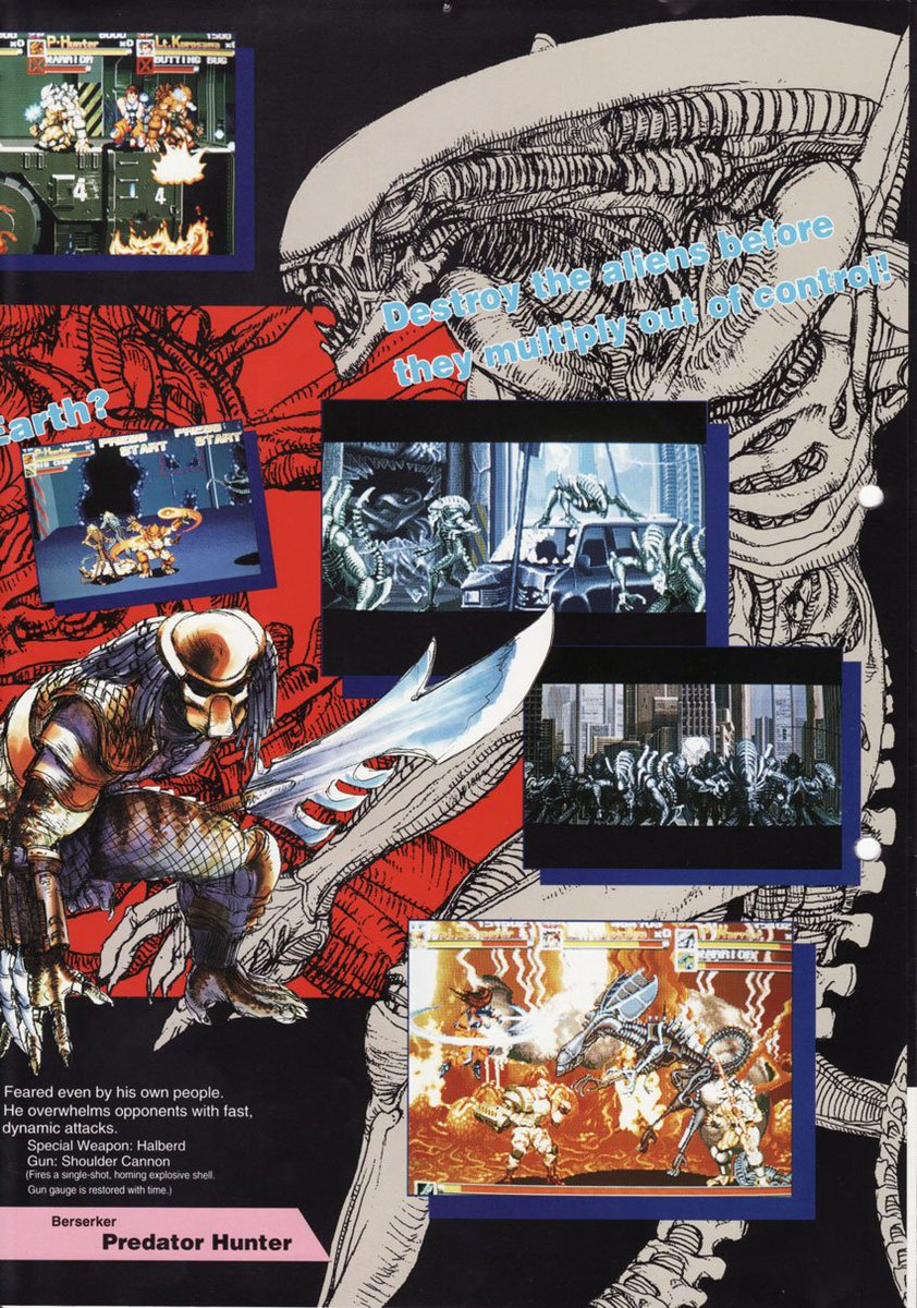Alien Vs. Predator released 24 years ago into the arcades worldwide by Capcom.  Great little beat em up for up to 3 people  #retrogaming #gamersunite #gaming #gamers #arcade #capcom #Aliens #Predators #videogames #90s #90skids #nostalgia<br>http://pic.twitter.com/zmenmn10qC