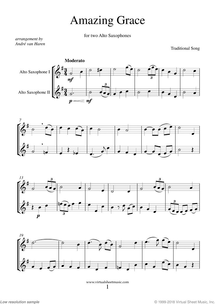 Just published: Amazing Grace (intermediate) virtualsheetmusic.com/score/AmazingG… #sheetmusic #traditional #saxophone