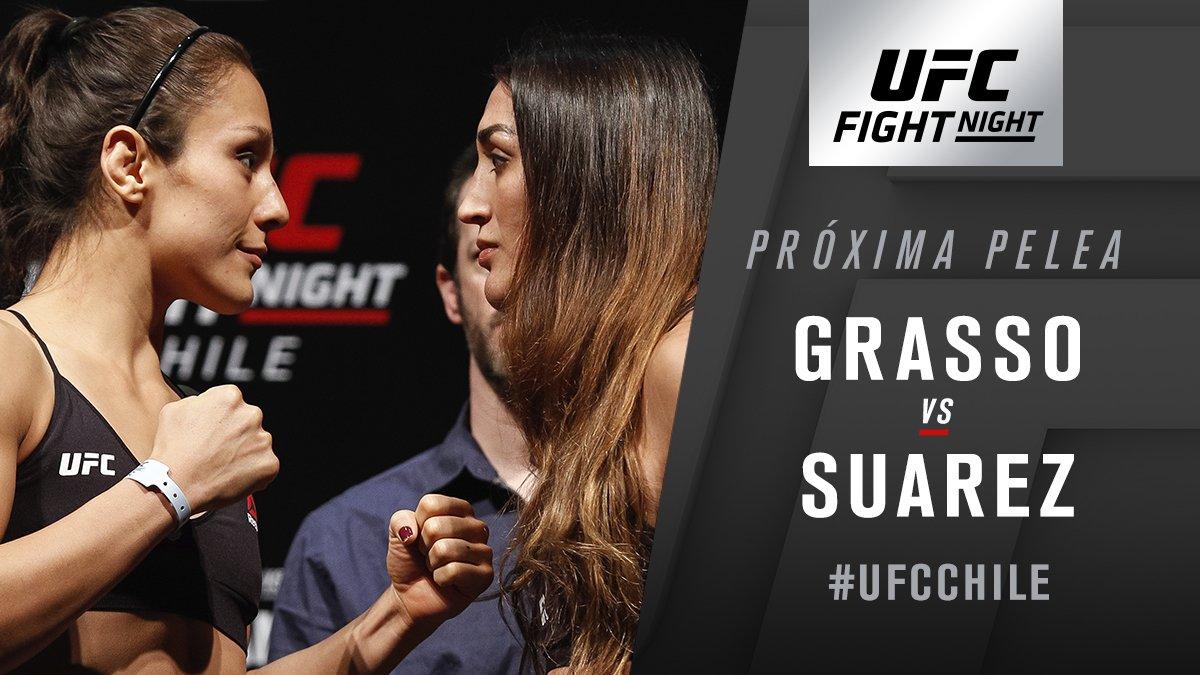 Evento Co-Estelar por seguir‼️ #UFCChile ���� @AlexaGrasso ���� VS ���� @TSPMMA115 https://t.co/8Y8yYwTXtQ