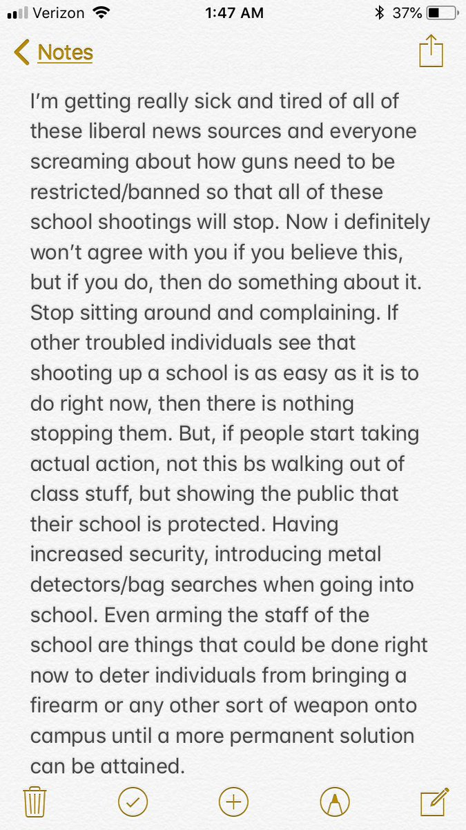 My personal opinion regarding the news and everything circulating around the terrible school shootings that have occurred across our great country