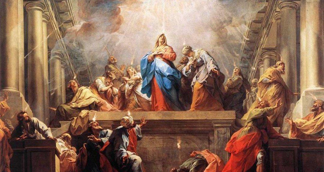 #EvangeliodelDía   El Espíritu Santo sobre los apóstoles
