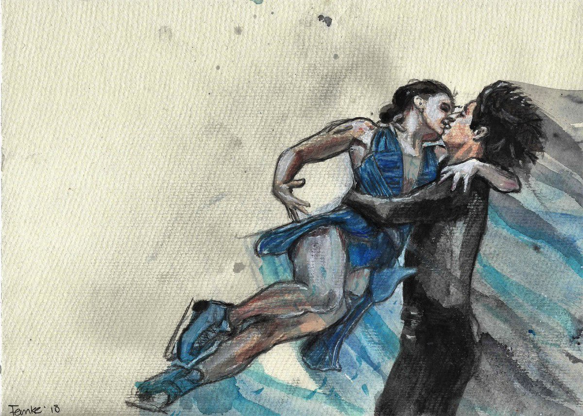 These are for sale if someone is interested #VirtueMoir #forsale #tessavirtue #scottmoir #iceskate #sport #canada #beautiful #art #watercolor #ink #painting #otp<br>http://pic.twitter.com/l1L0u2vZyh