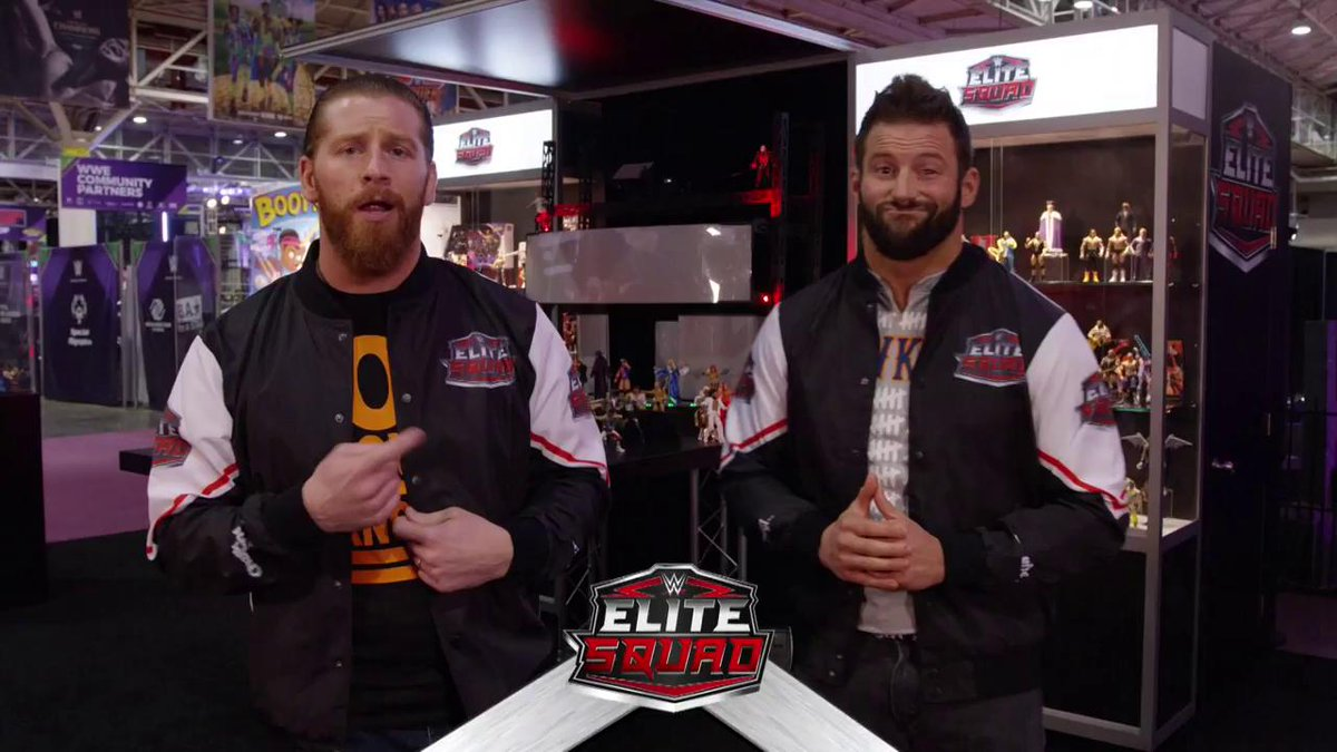 Elite Squad members @ZackRyder and @TheCurtHawkins got a first look at @Mattels upcoming Elite Collection action figures at #WrestleMania Axxess in New Orleans!