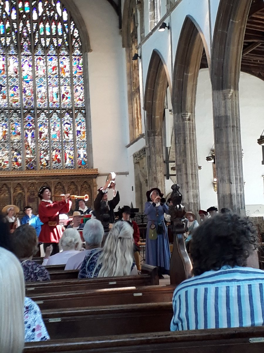 International Town Pipers at St Nicholas Chapel on Hanse Day #lovewestnorfolk