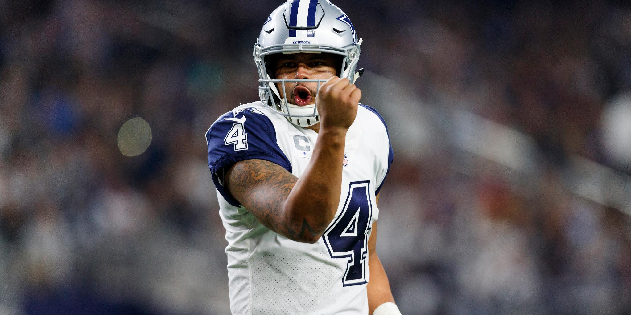 Better than Staubach. Better than Aikman. Better than Romo?   That's @dak's goal. https://t.co/9pVqWT0F0i https://t.co/BHWvYzc5zu