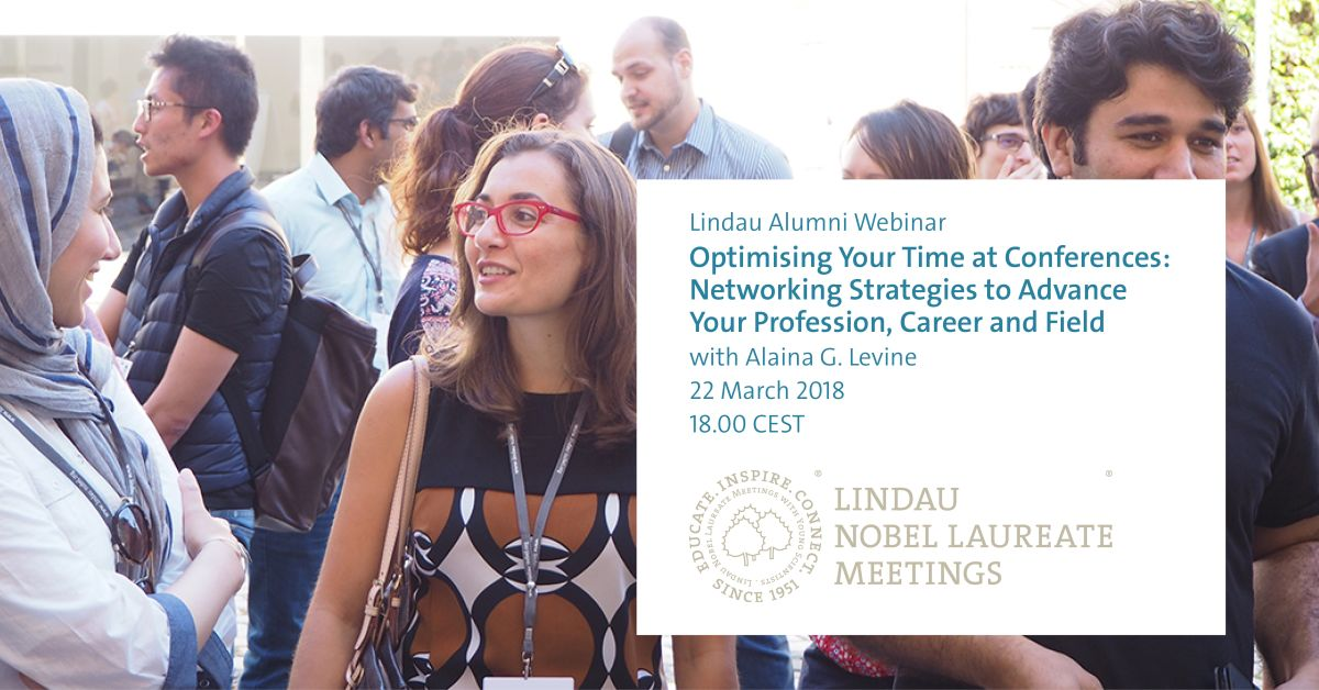 test Twitter Media - Lindau Alumni and #LINO18 young scientists: Our second #webinar will be 24 May 2018 at 18:00 CEST. @AlainaGLevine will introduce you to #networking strategies that will optimise your time at conferences. Register here: https://t.co/eapryqlT1t https://t.co/r3gwDlCfwr