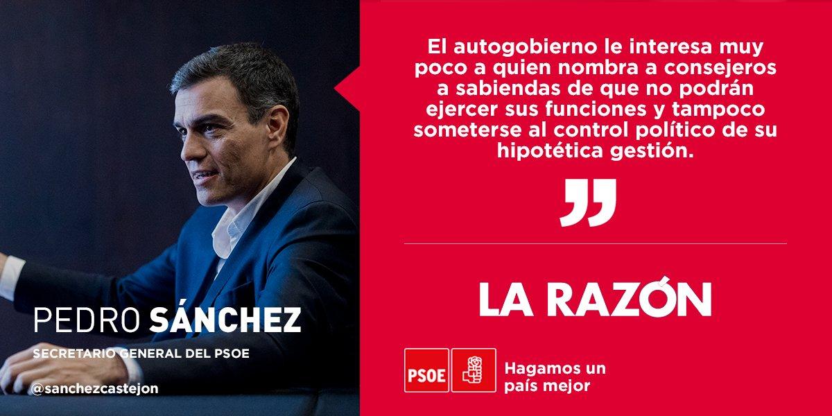 PSOE's photo on Sanchez