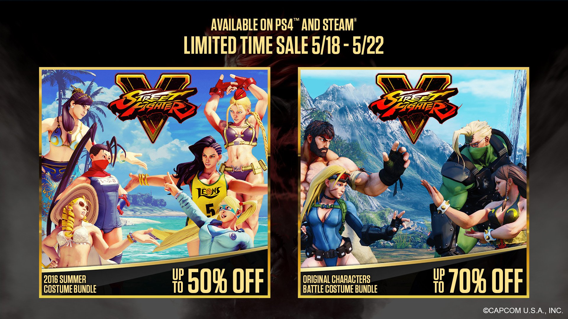 Street Fighter On Twitter The 2016 Summer Costume Bundle And Original Characters Battle Costume Pack Are On Sale Until May 22 Steam Worldwide Https T Co Rexj5sjilf Ps4 Americas Only Https T Co Gr6uxdzeee Https T Co Wljnxdjkmj