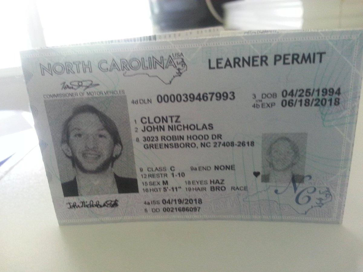 nc drivers license permit