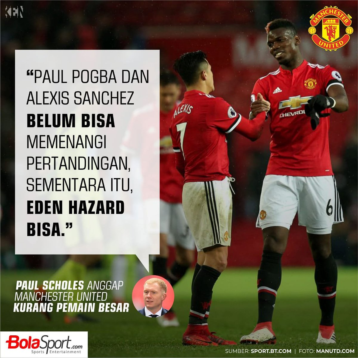 "BolaSport On Twitter ""Menurut Legenda Manchester United"