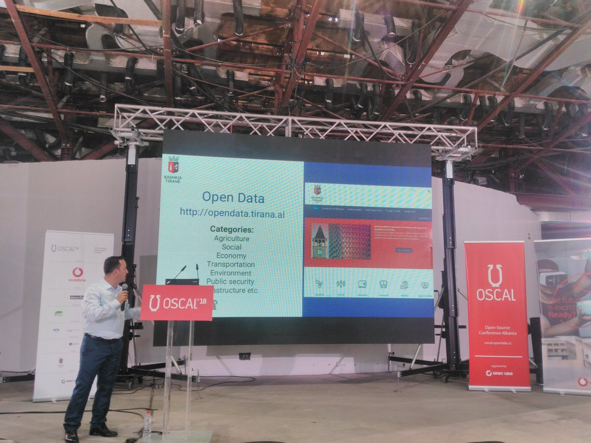 The work done so far by @BashkiaTirane on implementing open source solutions, show cased by the IT lead during @OSCALconf. @Nextclouders @libreoffice @mozthunderbird #OpenData are only some of them!  #OSCAL2018 #openbydefault<br>http://pic.twitter.com/34kRuKQGIU