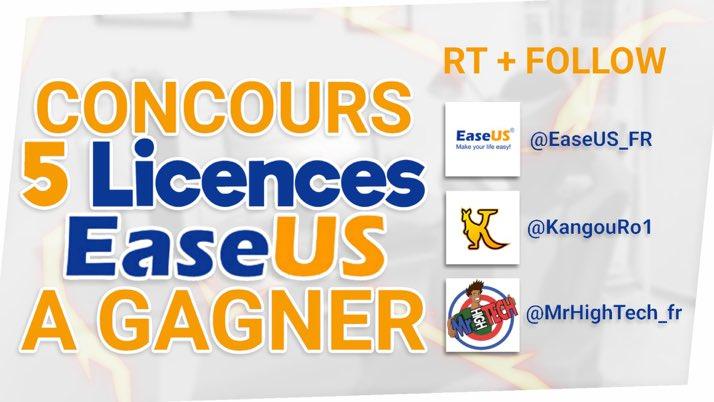 New #CONCOURS #giveaway   Gagne tes licences PRO EaseUS Data Recovery (5 gagnants)    Suivre @EaseUS_FR @MrHighTech_fr et @KangouRo1    #RT le post et visite  http://www. bit.ly/2wWZ2hU  &nbsp;      Mentionne un(e) ami(e)  Tirage le 3 juin 2018 <br>http://pic.twitter.com/nLFtCvNmG7