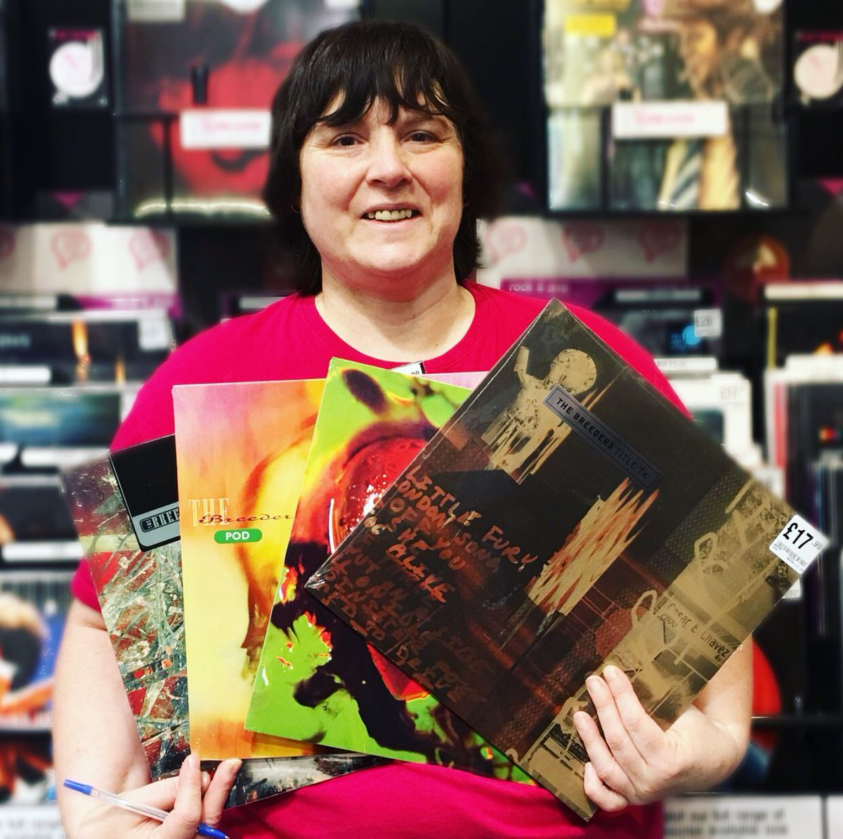 Rach's vinyl recommends this week are The Breeders reissues. Awesome Indie Rock straight outta Dayton, Ohio. Buy all 4 for £69.99 saving £10.97, or £17.99 each! #hmvLovesVinyl  #thebreeders #vinyl #vinylcollector