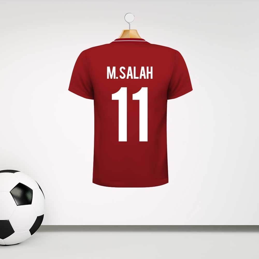 Liverpool style football shirt wall sticker with your name number custom design http ow ly li9u30k4ykk liverpoolfc liverpoolfootballclub football