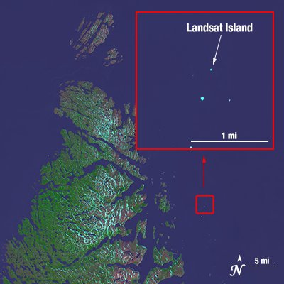 The Landsat Island Do you know that this tiny and uninhabited island was discovered in 1976, when a Canadian coastal survey was carried out using data from the Landsat 1 satellite? #landsat #satellite #image #island #nasa #usgs #remotesensing #mapping #geography #canada <br>http://pic.twitter.com/N0MC4H5c7P
