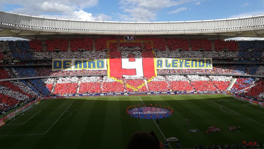 Impresionante el mosaico en el Metropolitano a la salida de los jugadores.