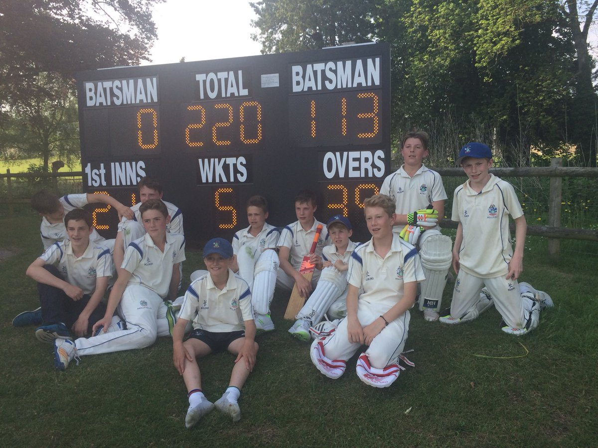 Great day at the office for @bealer1966 and the @MPS_Sport u13 boys beating Somerset! Great team performance, especially a huge 109 from Bobby...BOOM!!! #thriller <br>http://pic.twitter.com/69oUyqnwOp