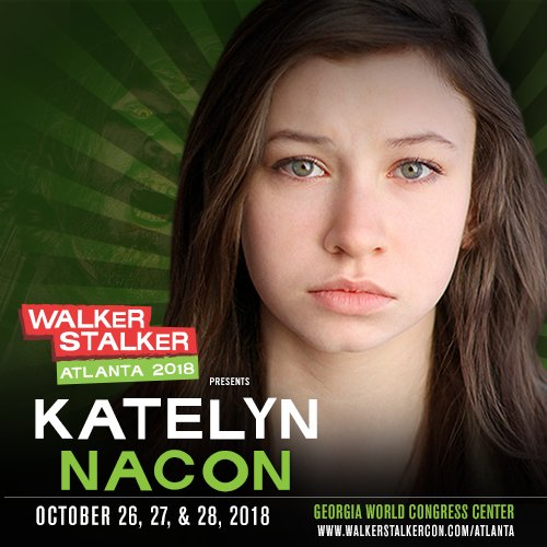 GUEST ANNOUNCEMENT – Katelyn Nacon / @katelynnacon (Enid, #TheWalkingDead) joins us for #WSCAtlanta!