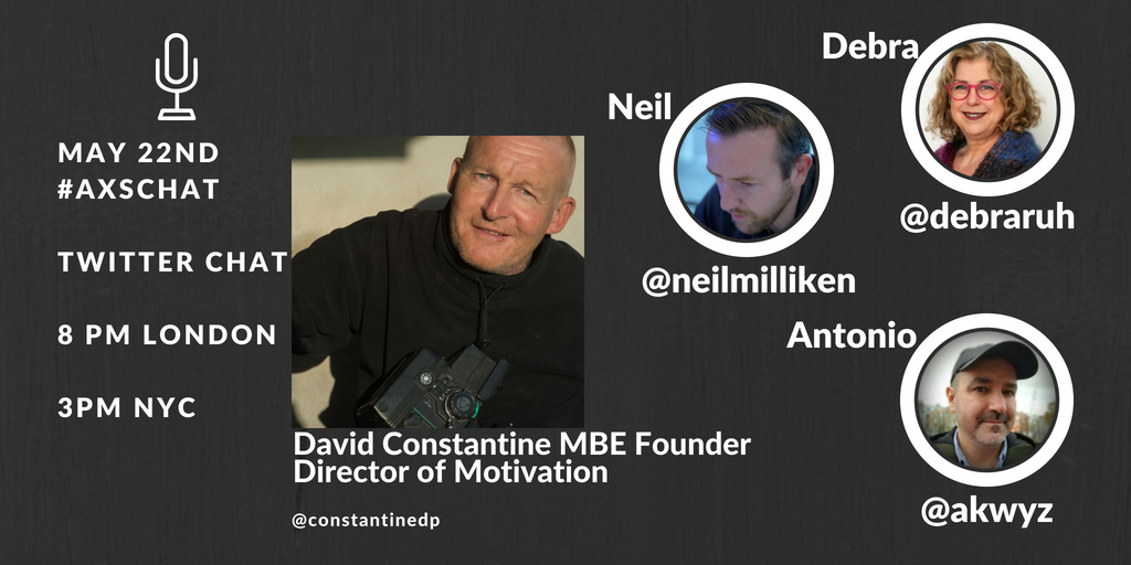 [Video] Tuesday 22nd on #axschat, our guest is David Constantine @constantinedp Founder Director of Motivation - @WeAreMotivation. Join @debraruh, @NeilMilliken and I for another Twitter chat - #accessibility #3Dprinting #3Ddesign #manufacturing #mobility  https:// youtu.be/wBZQN4dk_vs  &nbsp;  <br>http://pic.twitter.com/DPCITGtTas