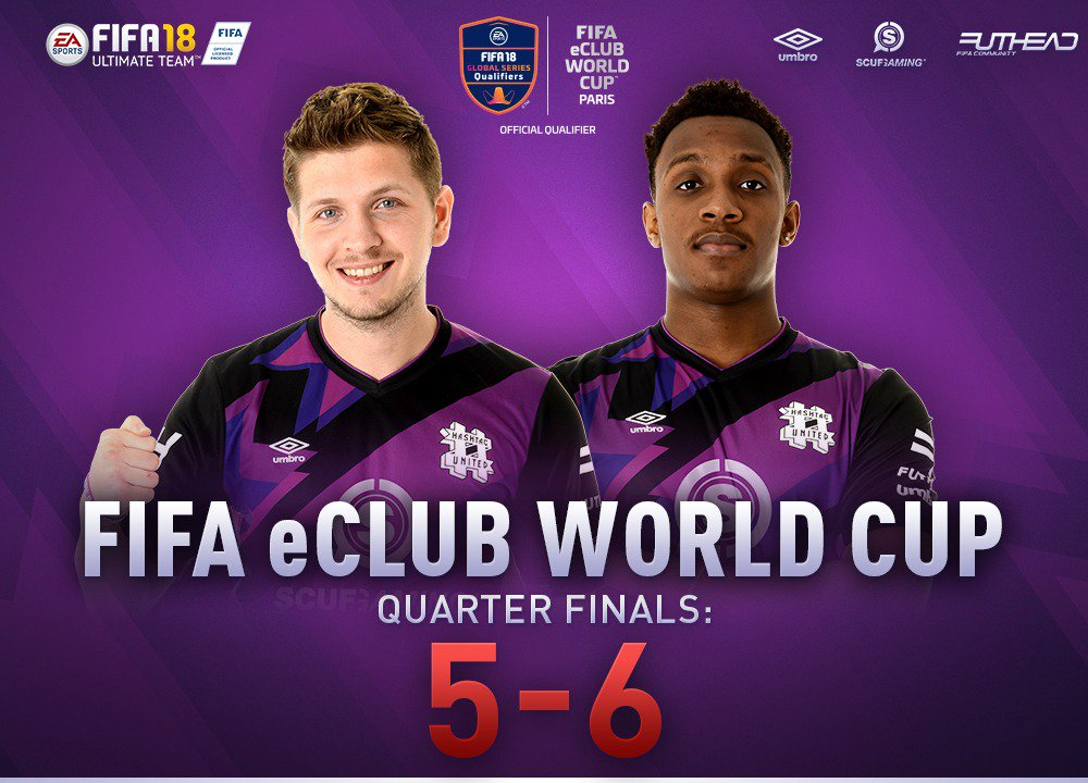GG.  Thats our @FIFAeWorldCup club world cup journey over. Gutted, especially after such a dominant group stage, but the bracket gave us a tough draw. No excuses! We go again for Amsterdam. #TeamSCUF  @Hashtag_Boras: 2-2  @HashtagRyan_: 3-4  Thanks for having us!
