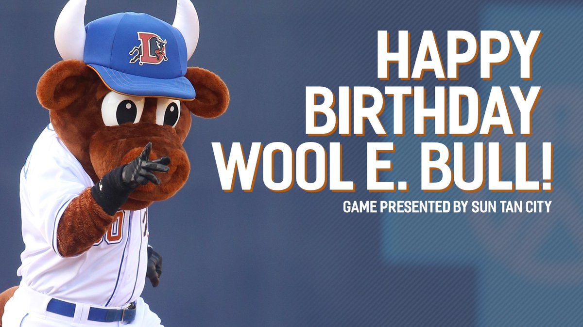 Durham Bulls On Twitter It S Wool E Bull S Birthday Join Us At 5