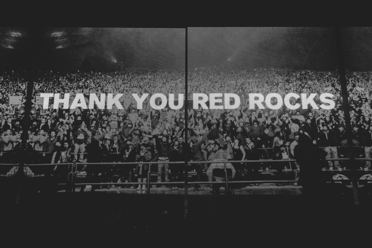 In spite of the frigid conditions, Red Rocks rocked. #CommonGround