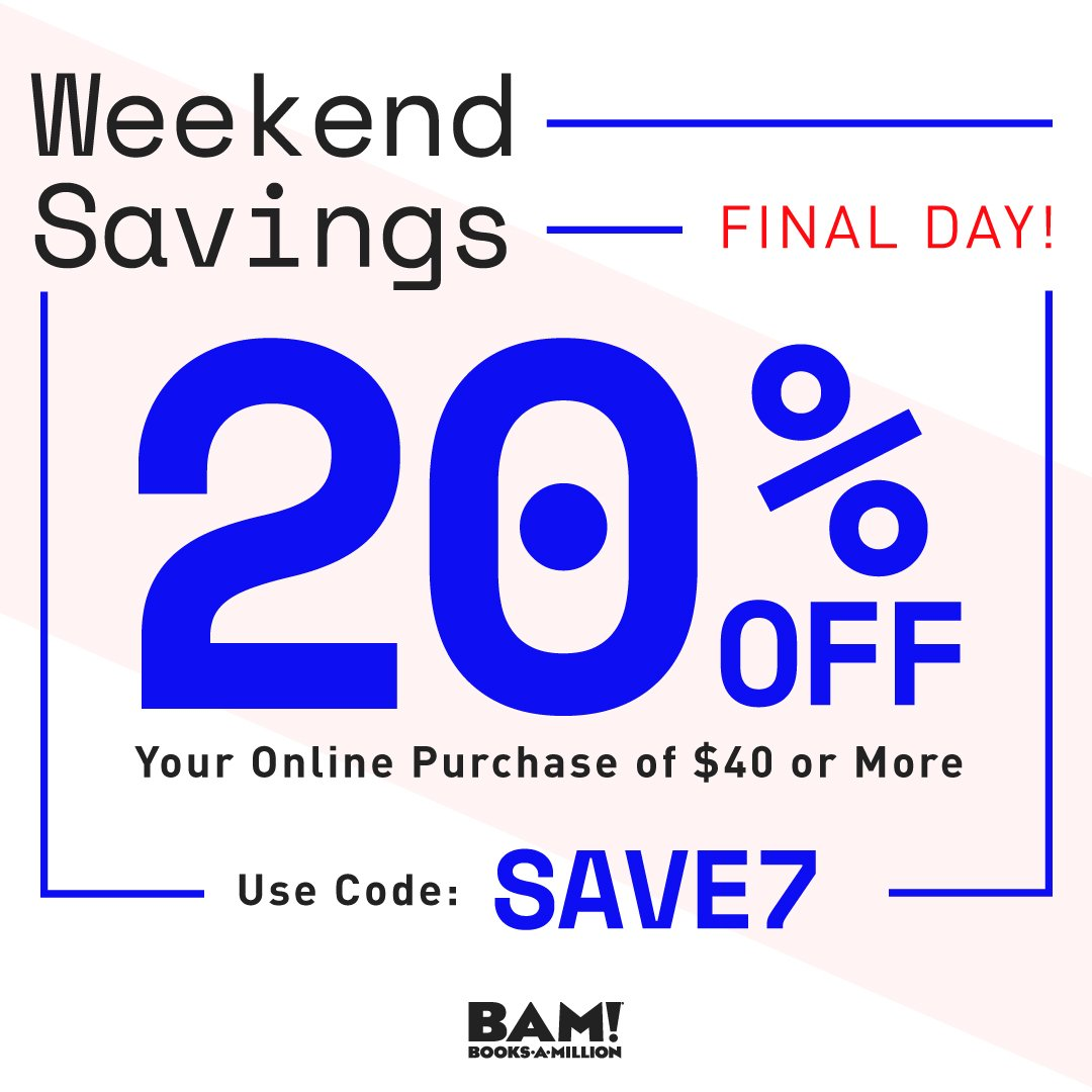 Today is the last day to #save! Find the best deals #online only at #BooksAMillionDotCom bit.ly/2LbeI4c