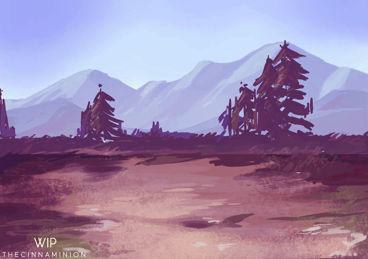 Fooling around with colours and composition, and got carried away! It was fun!   #background #environment #conceptart #illustrationart<br>http://pic.twitter.com/D80QH9fAGt