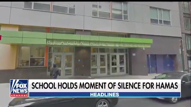 New York City high school holds moment of silence for Hamas. https://t.co/6qAg4obeHb