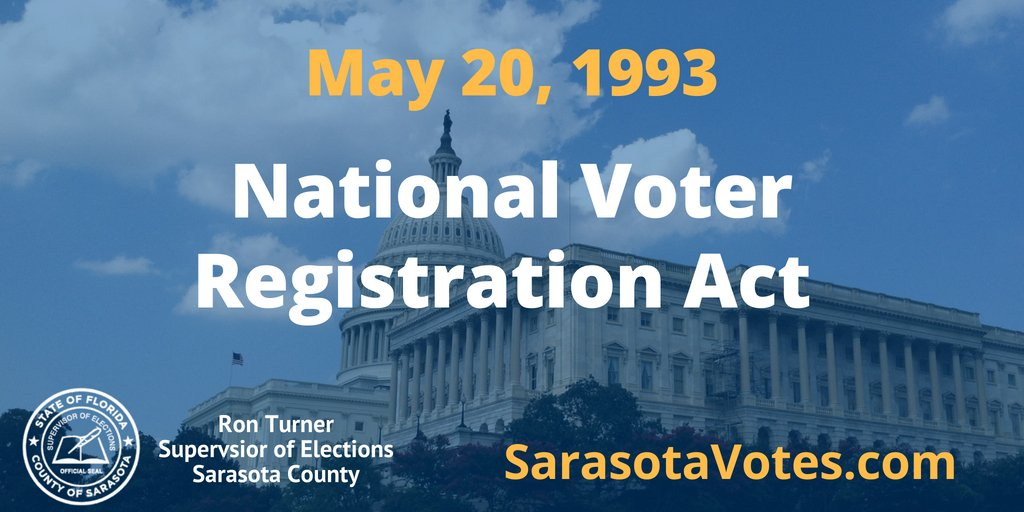 "The ""Motor Voter Act"" has made it easier for Americans to register to vote. #SarasotaVotespic.twitter.com/MNKuNCyIMB"