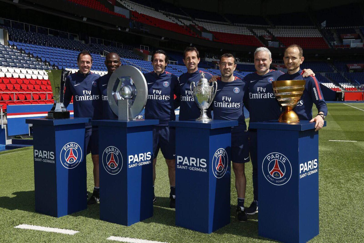 PSG would like to thank @UnaiEmery_ for these last two years in which he won 7⃣ trophies with the club! 🔴🔵