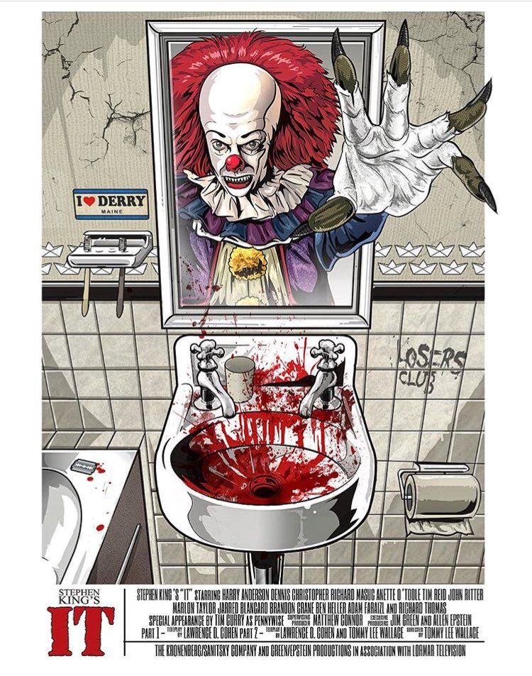 WOW! Check out this IT poster from @alleycatgraphic #it #HorrorArt<br>http://pic.twitter.com/xPPPO83ecR