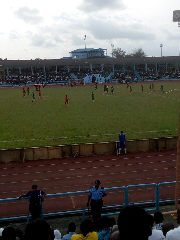 Watching #Nigeria Vs #Guinea Bissau live in the U J Esuene Stadium, Calabar... #NigeriaVsGuineaBissau.... https://t.co/eQnL2ipcmn