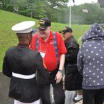 Image for the Tweet beginning: Veterans and family members participating