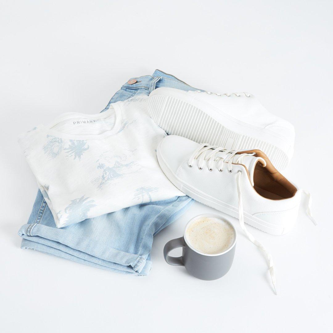 Sunday vibes 🌴 T-shirt £5/€6, Shorts £10/€13, Trainers £12/€16 #Primark #menswear