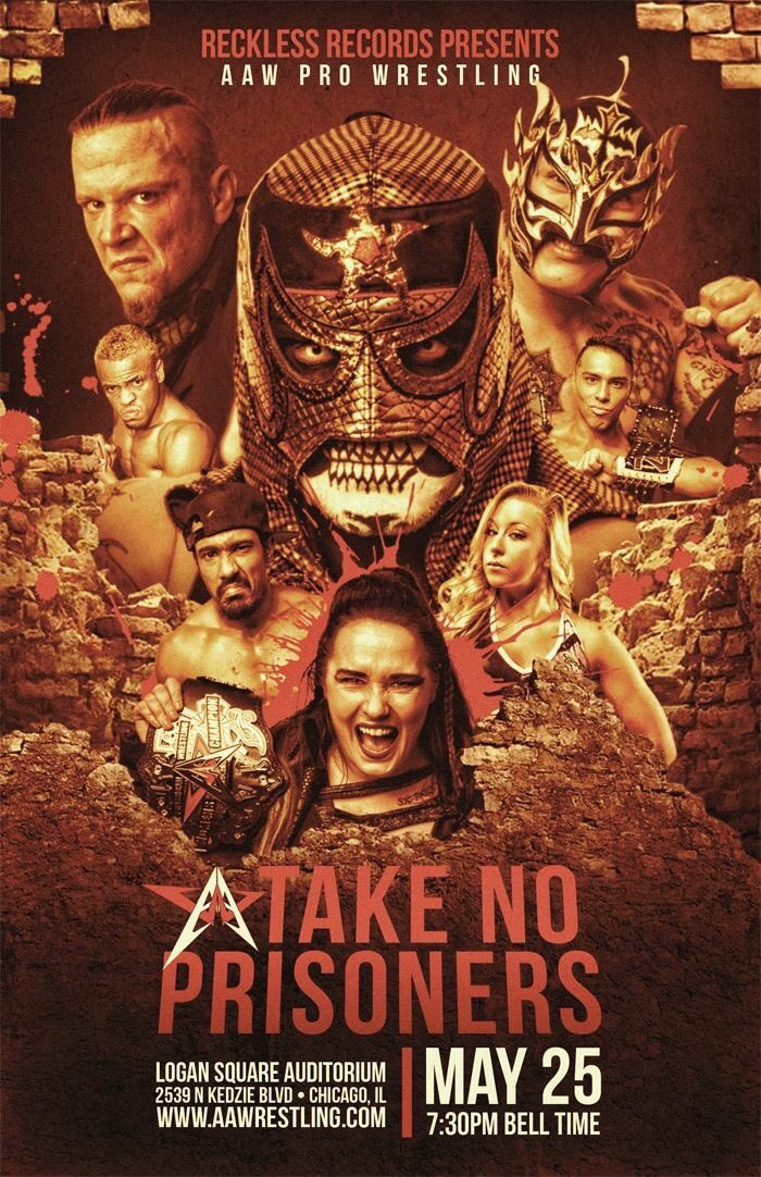 This Friday, @AAWPro at Logan square. 6 matches already announced plus @TheDirtyRook @DaveyVega85 @Lady_Scarlett13 @ColtCabana @TheAceyBaby @PACOx621 @CurtStallion @JakeWayneHolmes @fakebraxton @StephenWolf309 juice Robinson all in action . Don't miss it !