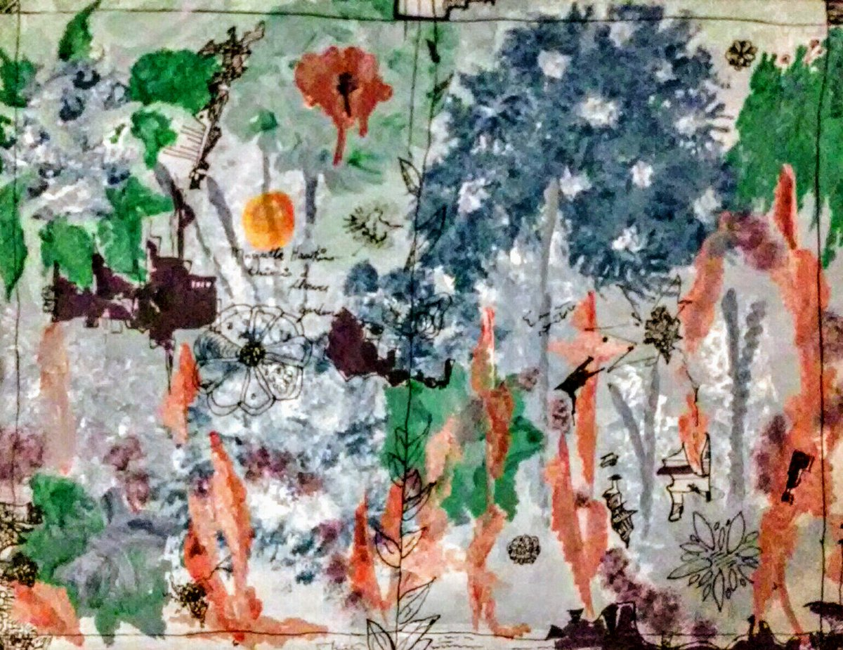 #Art #artist #artistontwitter #drawing #painting #flowers #originalart #creativity   Flower Garden 14&quot;×18&quot; #acrylic #paint &amp; India #ink on primed #canvas panel  1992<br>http://pic.twitter.com/qG3O0JBWpl