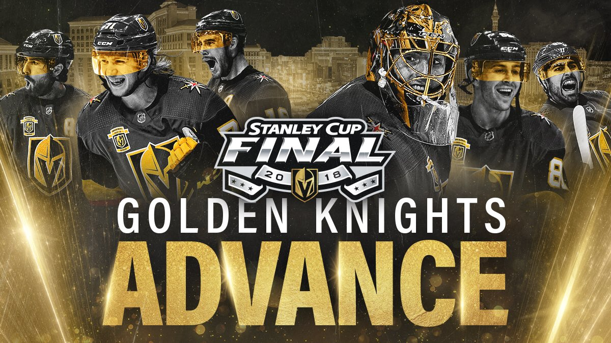 THE GOLDEN KNIGHTS ARE GOING TO THE STANLEY CUP FINAL!  #VegasBorn https://t.co/Qdw7b5Rlib